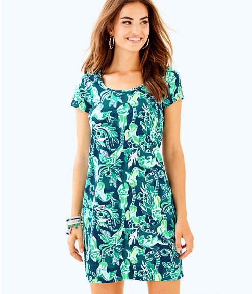 Short Sleeve Beacon Dress, Tidal Wave In The Details, large