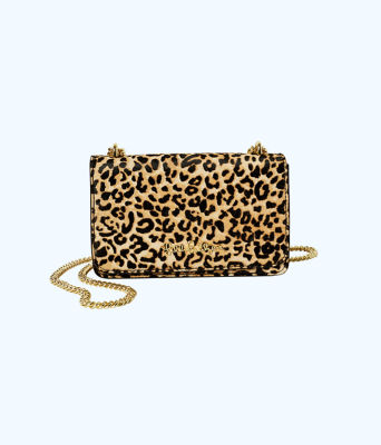Kat Crossbody Bag, Multi Leopard Haircalf, large