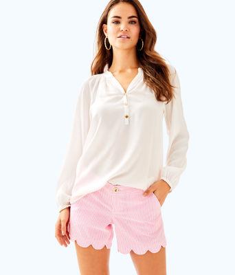 "5"" Buttercup Seersucker Short, Pink Cosmo Yarn Dyed Stripe Seersucker, large"
