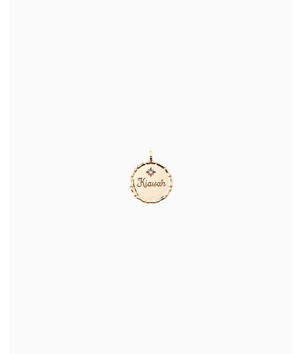 Location Charm, Gold Metallic Kiawah Charm, large