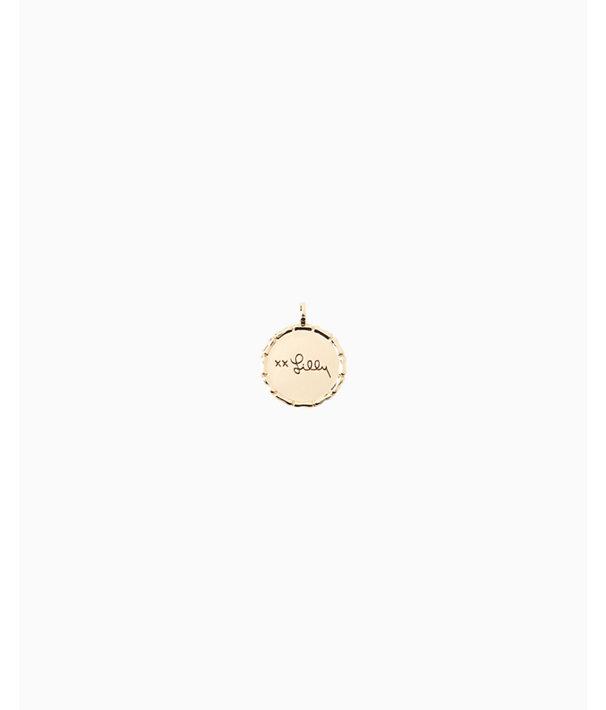 Location Charm, Gold Metallic Marthas Vineyard Charm, large