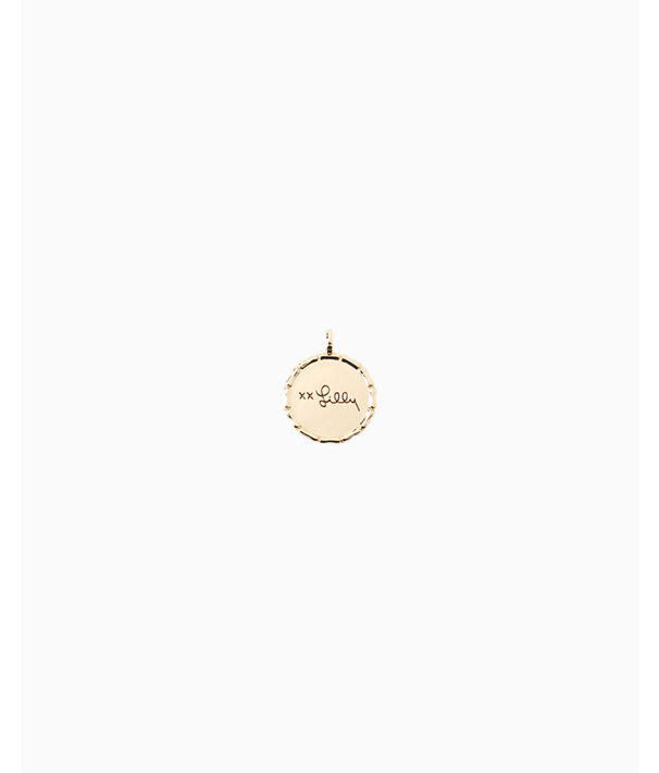 Location Charm, Gold Metallic Naples Charm, large