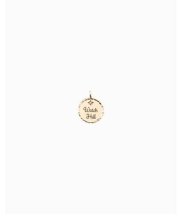 Location Charm, Gold Metallic Watch Hill Charm, large