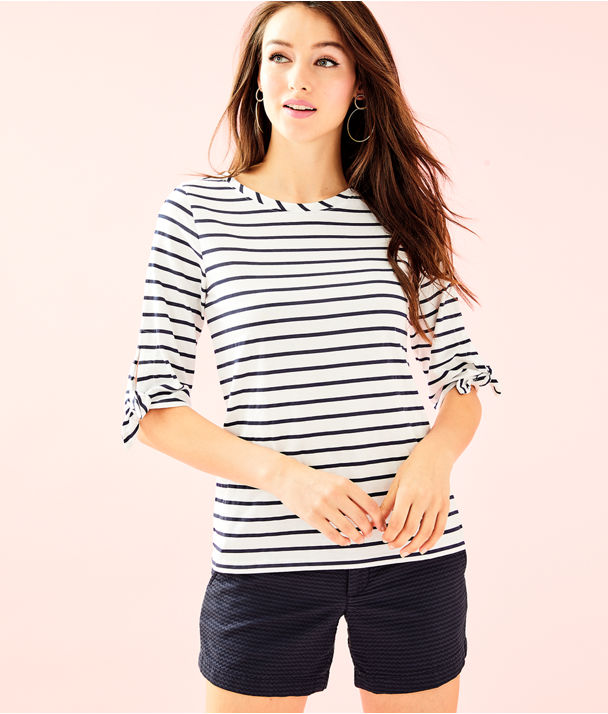 Preston Top, Bright Navy Mystic Stripe, large