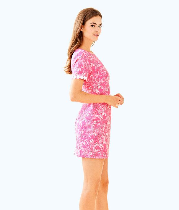 goop x Lilly Pulitzer Gwyneth Stretch Shift Dress, Hotty Pink Kiss Kiss For Goop X Lilly Pulitzer Sm, large