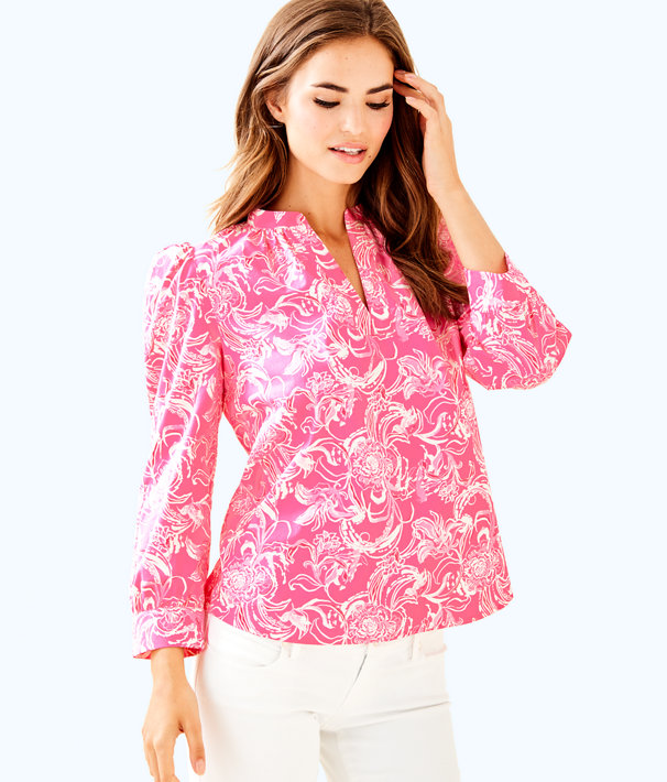 goop x Lilly Pulitzer Paltrow Blouse, , large