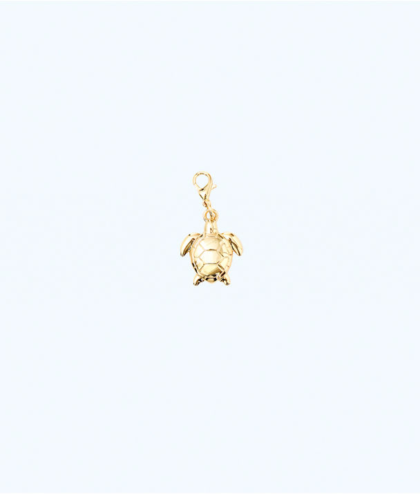 Removable Turtle Zipper Pull, Gold Metallic, large
