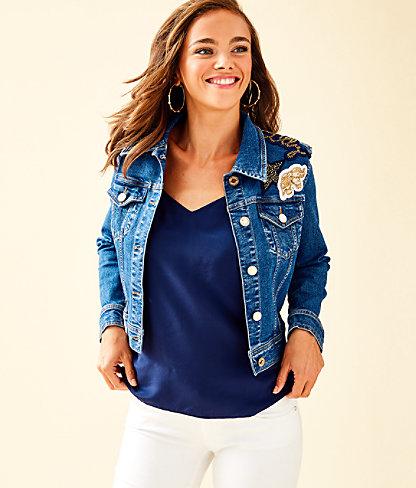 Seaspray Denim Jacket, Via Marila Wash, large