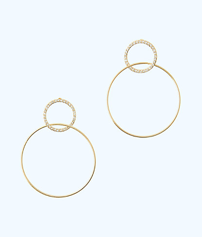Sunkissed Hoop Earrings, Gold Metallic, large