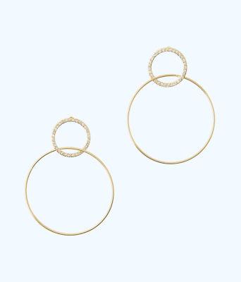 Sunkissed Hoop Earrings, Gold Metallic, large