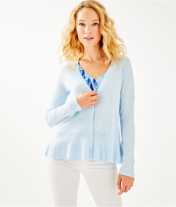 Clarissa Cardigan, Boho Blue, large