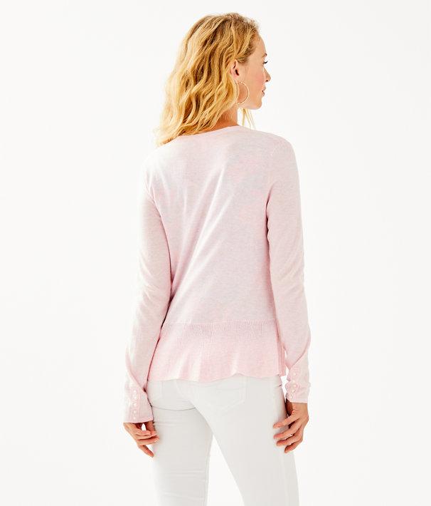 Clarissa Cardigan, Heathered Paradise Pink, large