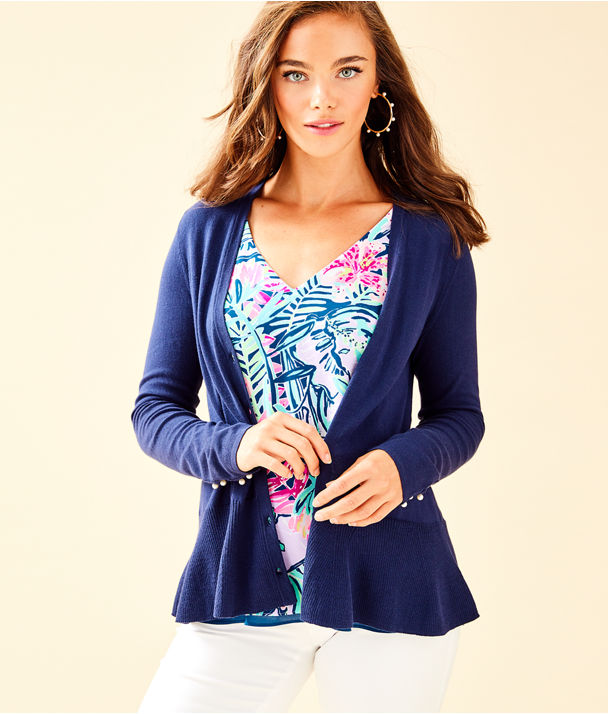 Clarissa Cardigan, True Navy, large