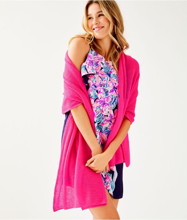 Folie Cashmere Wrap, Pinata Pink, large