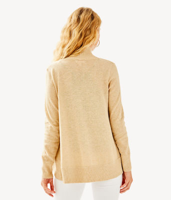 Amalie Cardigan, Heathered Camel Metallic, large 1