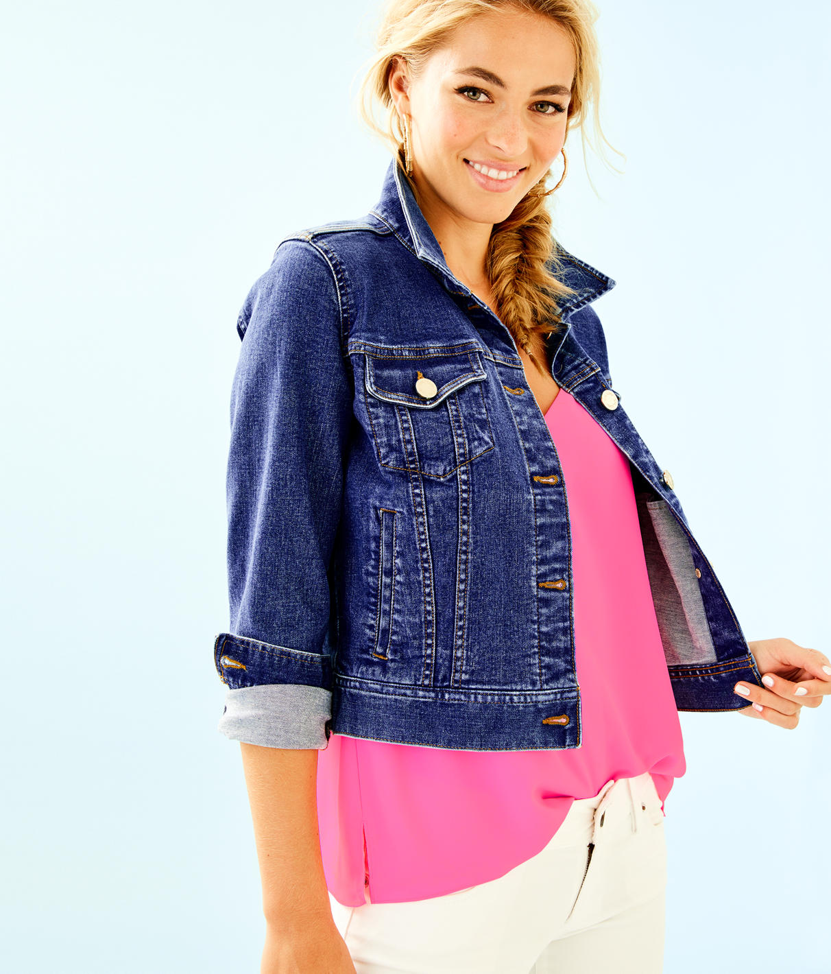 Lilly Pulitzer Seaspray Denim Jacket