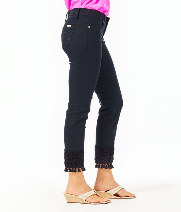 South Ocean Skinny Crop with Lace, Onyx, large