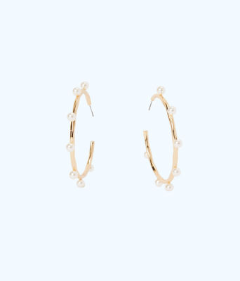 Gemma Hoops, Resort White, large 0