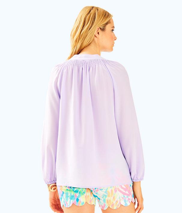 Elsa Silk Top, Lilac Verbena, large