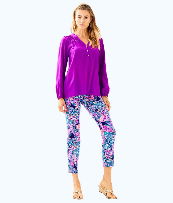 Elsa Silk Top, Paradise Purple, large