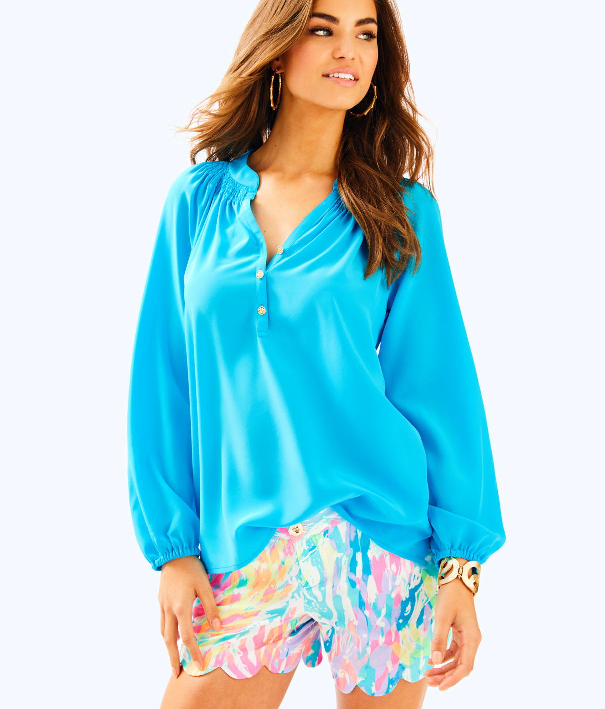 Lilly Pulitzer Lilly Pulitzer Womens Elsa Silk Top