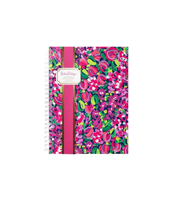 Mini Notebook, Bright Navy Wild Confetti, large