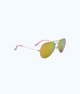 Lexy Sunglasses, Multi Coco Coral Crab, large 0