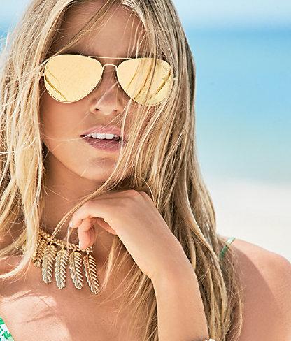 Lexy Sunglasses, Multi Coco Coral Crab, large 2