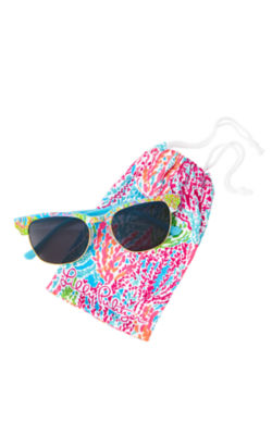Meghan Sunglasses, Seaspray Blue Lovers Coral, large