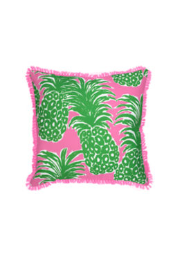 Large Indoor/Outdoor Pillow, Pink Pout Flamenco, large 1