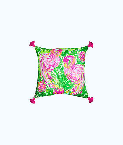 Extra Large Indoor/Outdoor Pillow, Multi Flamingo Motif Gift, large