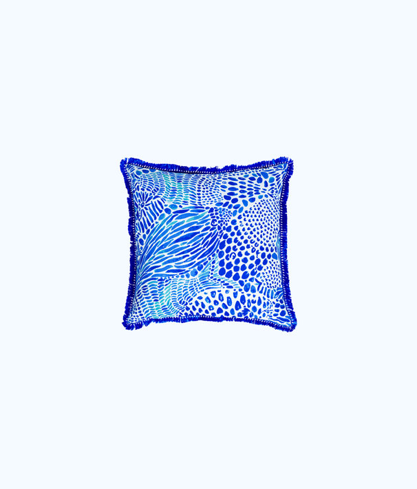 Large Indoor/Outdoor Pillow, Brilliant Blue Wade And Sea, large