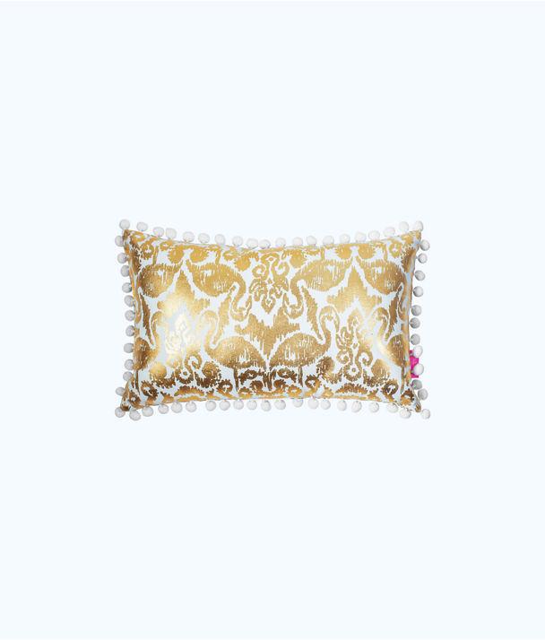 Medium Indoor/Outdoor Pillow, Tiki Pink Beach Bathers, large