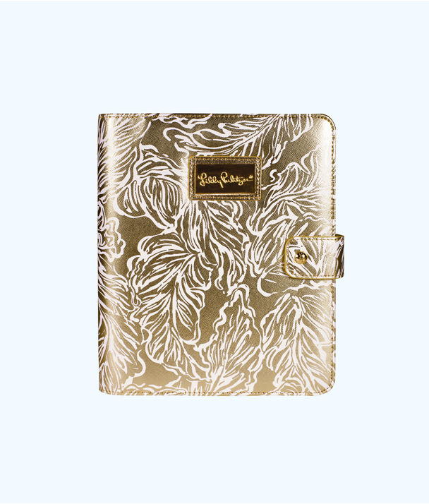 Agenda Folio, Gold Metallic Leafs Agenda Folio, large