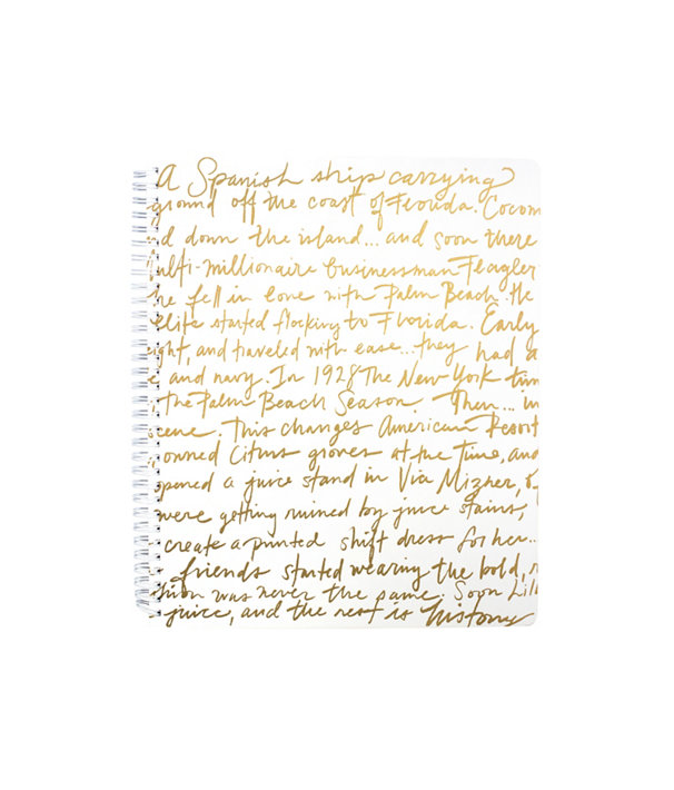 Large Notebook, Gold Metallic Lilly Story, large