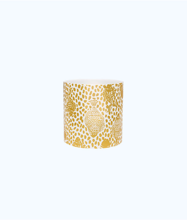 Vase 5 X 5, Gold Metallic Heart And Sole, large