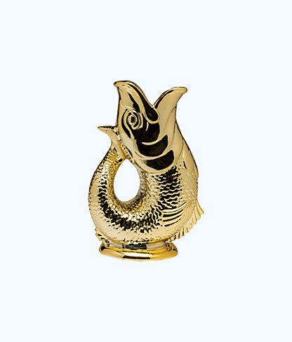 Vase Fish, Gold Metallic, large