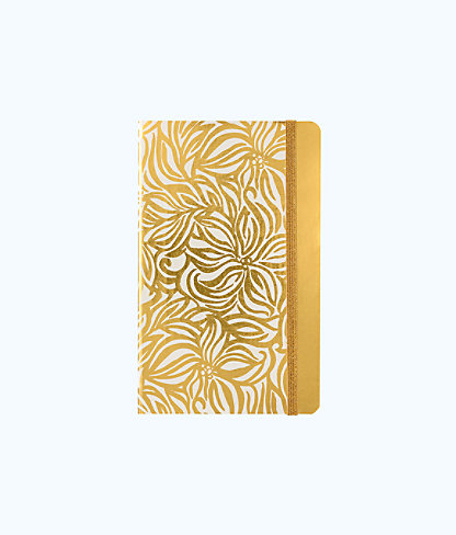 Journal, Gold Metallic Swirling Floral, large