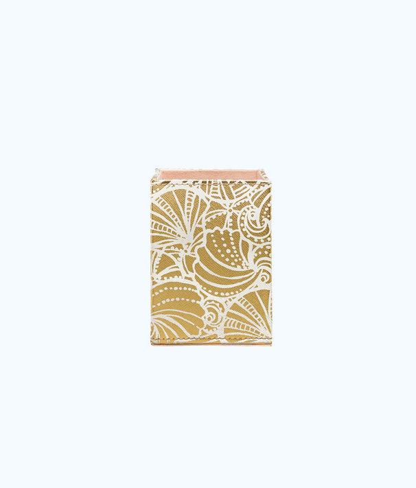 Pencil Holder, Gold Metallic Seaside, large