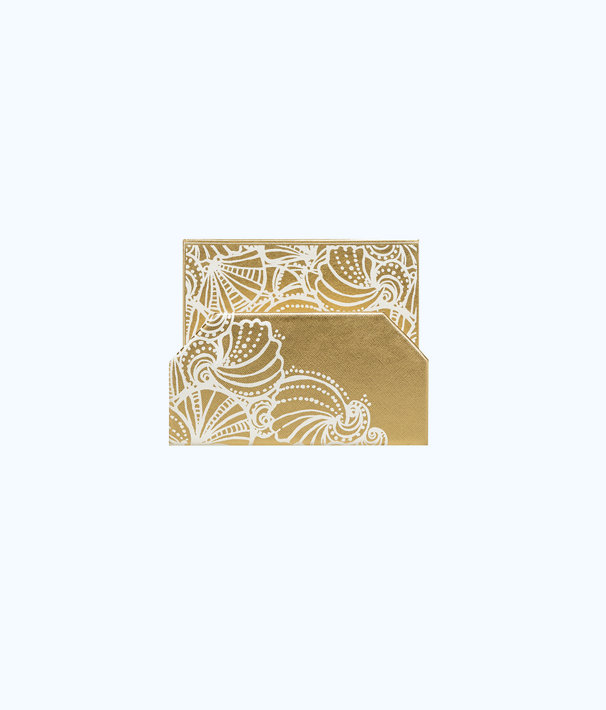 Mail Holder, Gold Metallic Seaside, large