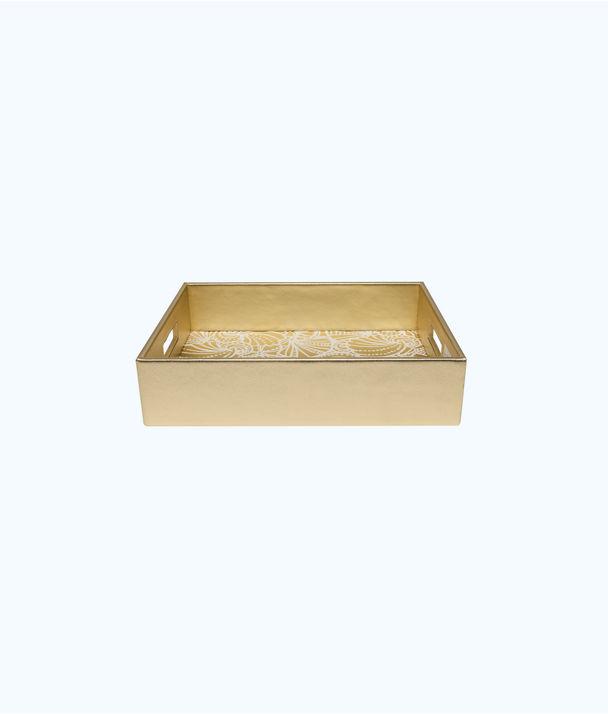 Letter Tray, Gold Metallic Seaside, large