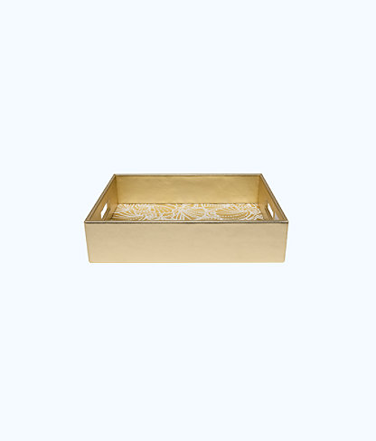 Letter Tray, Gold Metallic Seaside, large