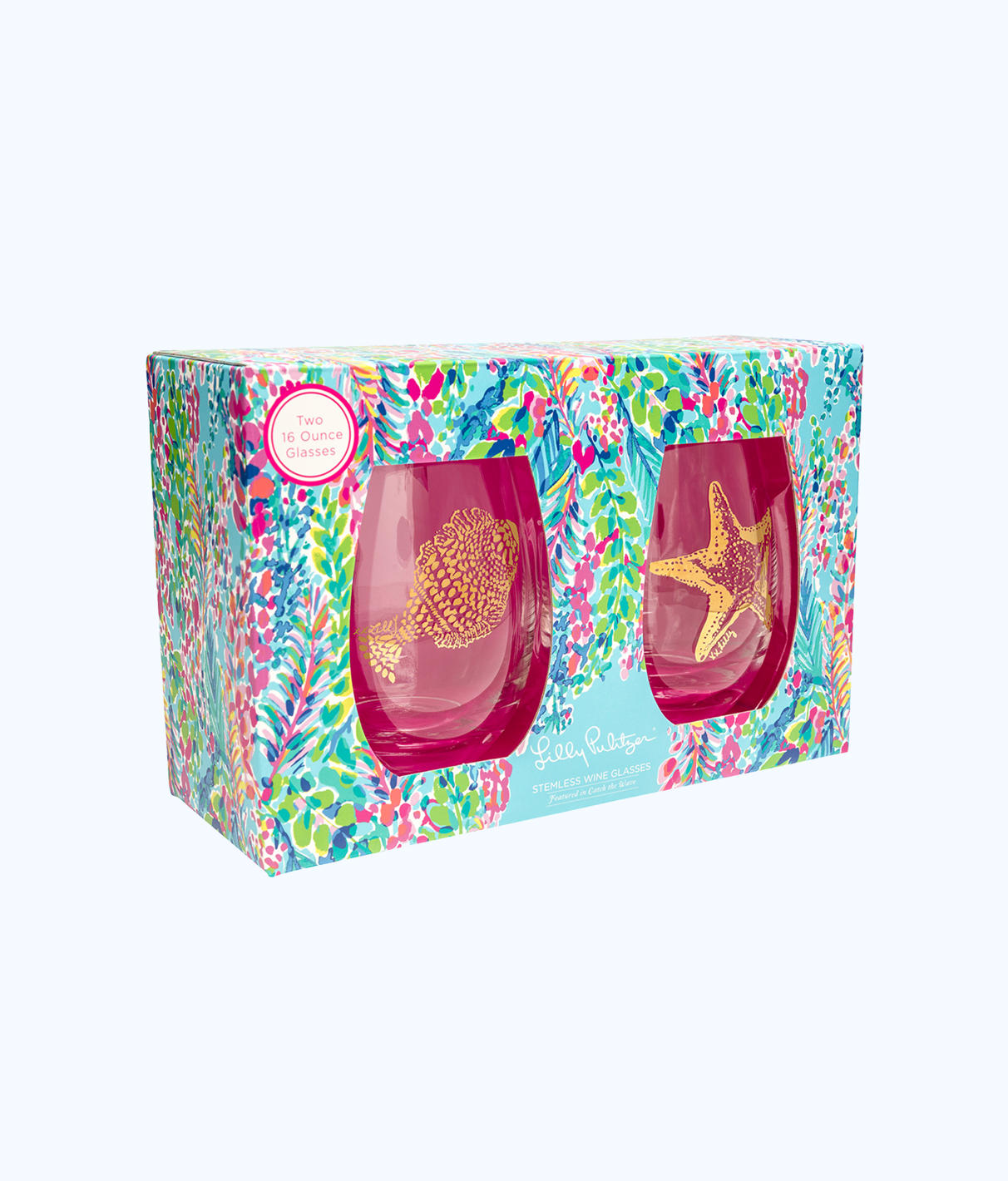 Lilly Pulitzer Lilly Pulitzer Stemless Wine Glass