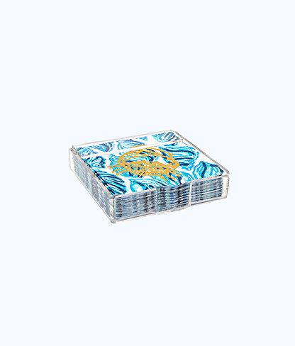 Paper Napkins, Resort White Drop In, large