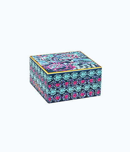 Small Lacquer Box, Deep Indigo Gypsea Girl, large