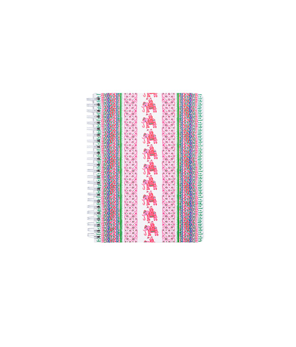 Mini Notebook, Pink Sunset Bohemian Stripe, large