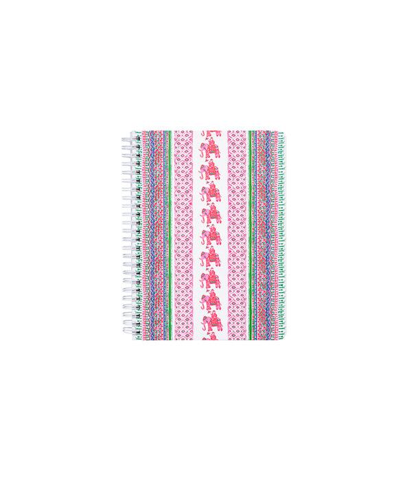 Mini Notebook, Pink Sunset Bohemian Stripe, large