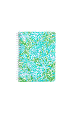 Mini Notebook, Tropical Turquoise Home Slice, large