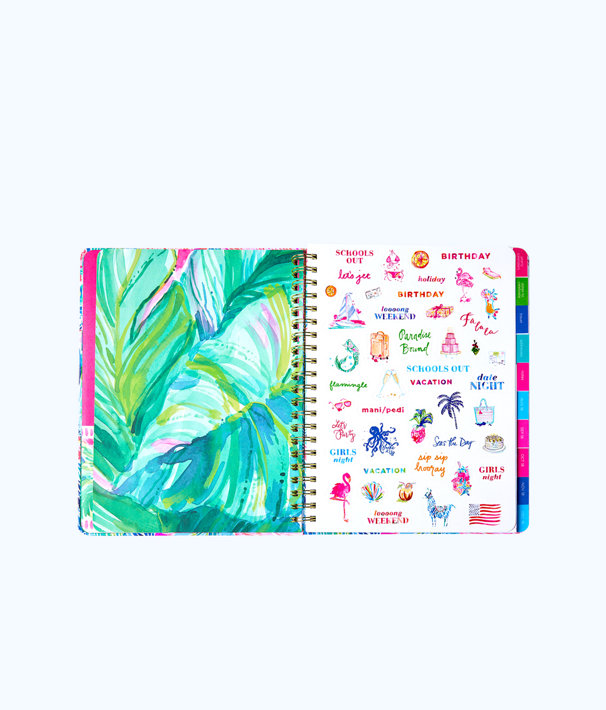 2018 - 2019 17 Month Jumbo Agenda, Multi Mermaids Cove, large