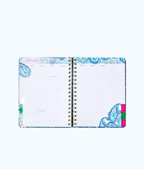2018 - 2019 17 Month Large Agenda, Nauti Navy Flamingo Planner, large